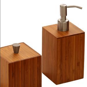 seville classics 5 piece bamboo bath and vanity luxury bathroom essentials accessory. Black Bedroom Furniture Sets. Home Design Ideas