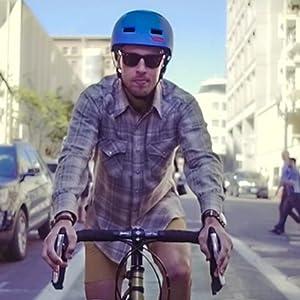 cyclist in urban enviroment.