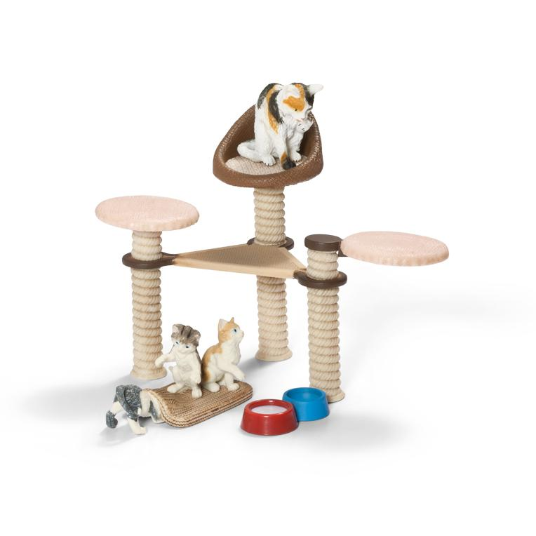 Amazon.com: Schleich Cat Scenery Pack, Multi Color