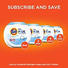 pods; pacs; laundry pacs; tide laundry detergent; free and gentle; high efficiency detergent