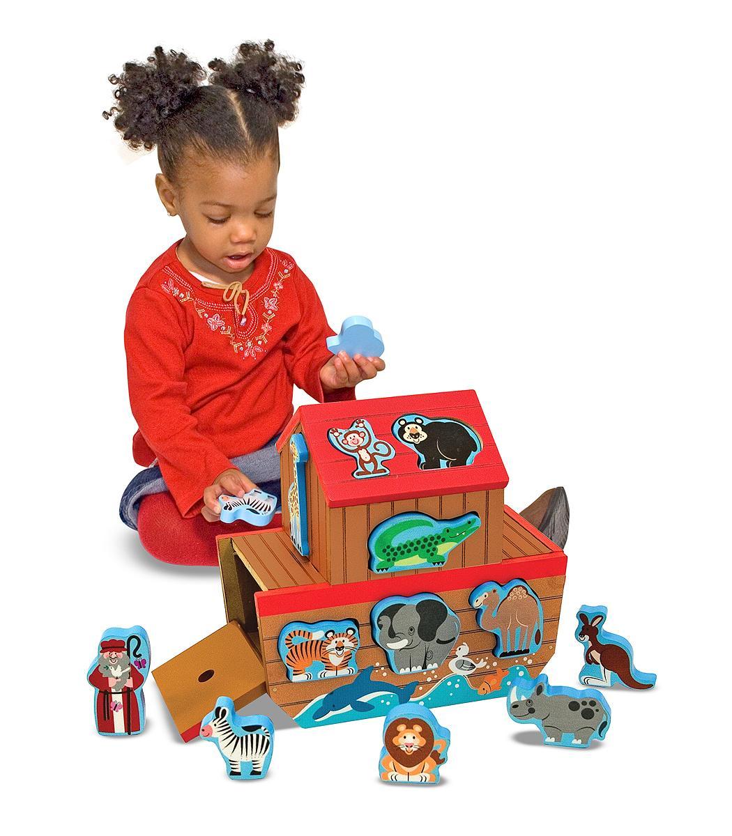 Toys For 45 Year Olds : Amazon melissa doug noah s ark wooden shape sorter