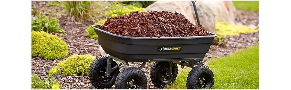Gorilla Carts 600 Lb Poly Garden Dump Cart Utility Wagon