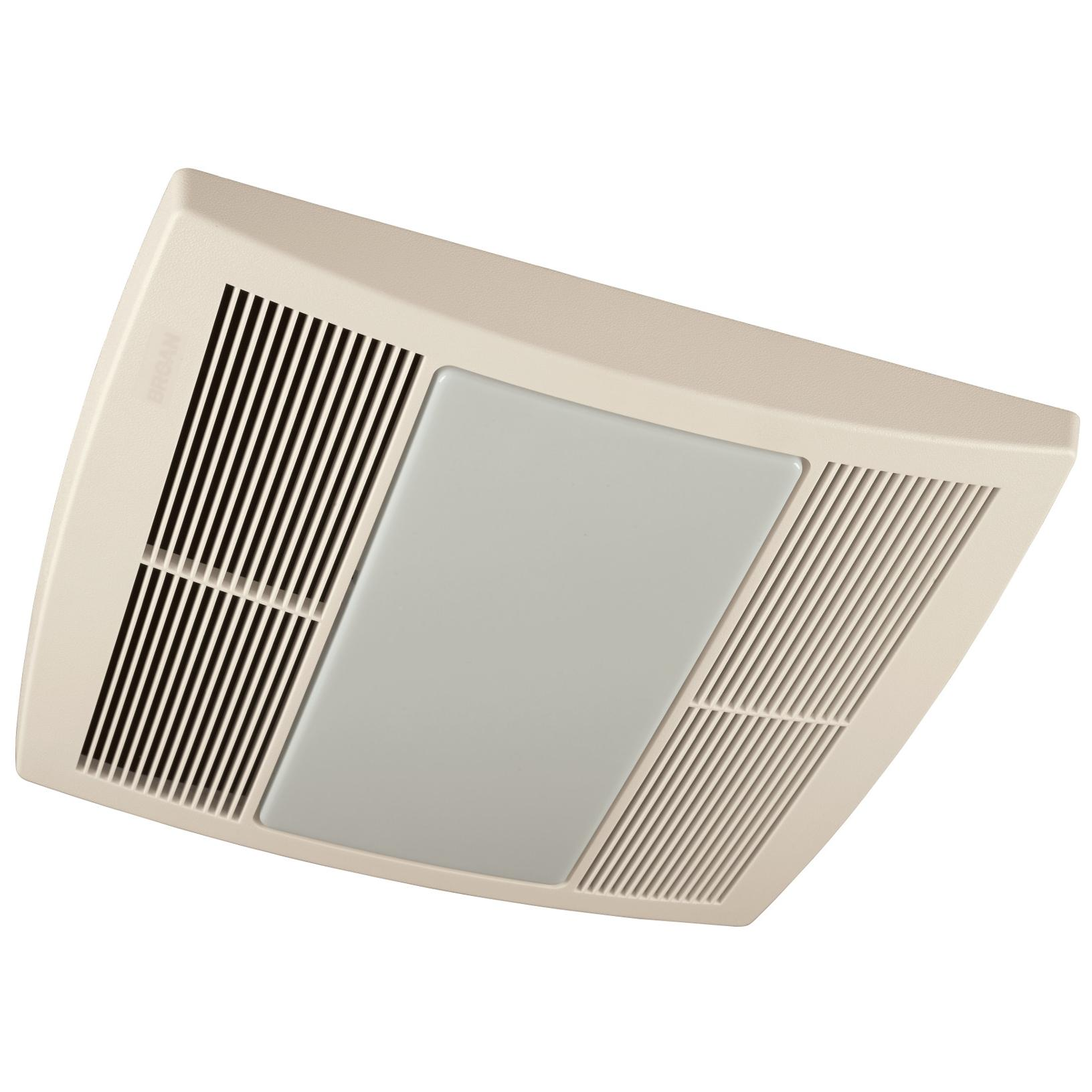 Broan QTR110L Ultra Silent Bath Fan, 110 CFM, White Grille