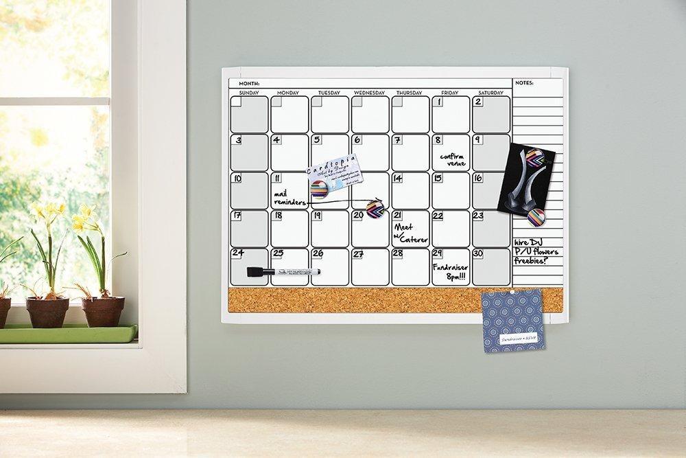 Amazon.com : Quartet Dry Erase Cork Calendar Board Combo