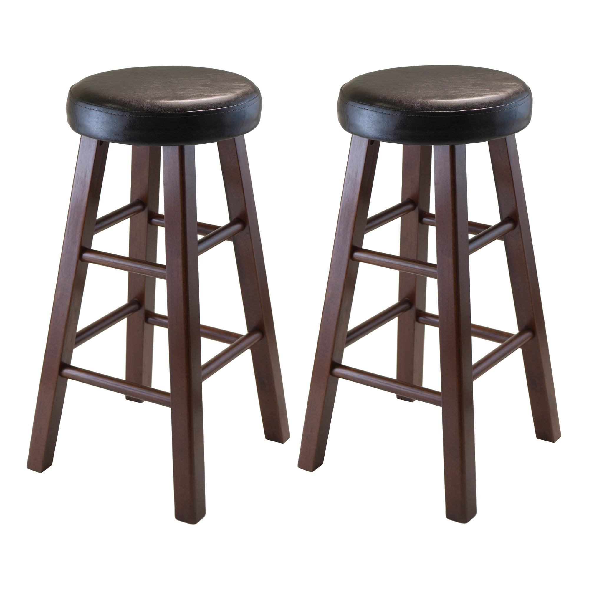 Elegant 24 Swivel Bar Stool Padded Seat