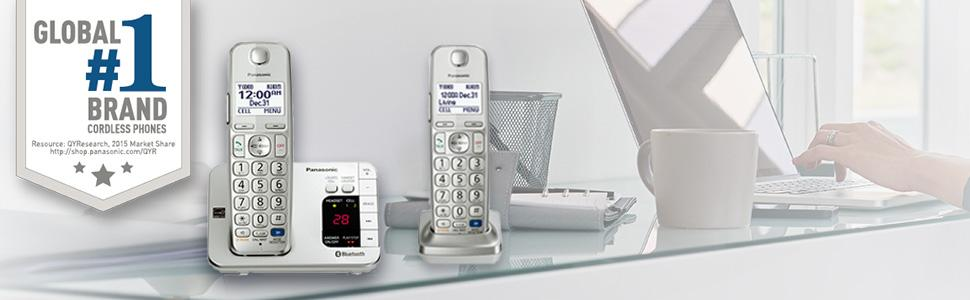Panasonic KX-TGE262S - Link2Cell Expandable Cordless Phone System with Answering Machine - 3 Handset