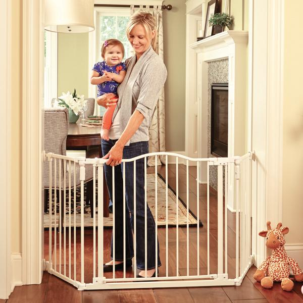 Baby Safety Gate Door Extra Wide Metal Walk Thru Pet Dog