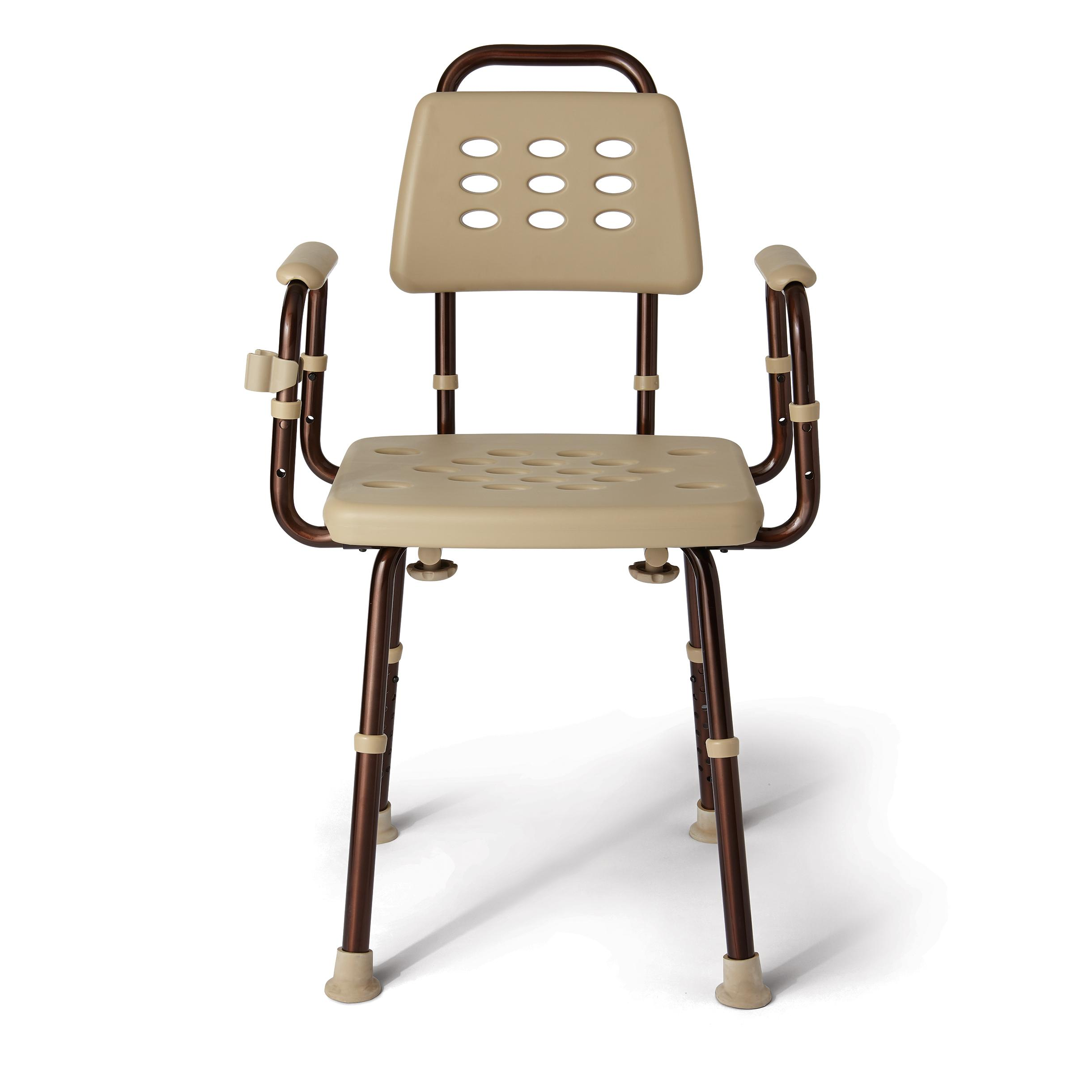 Amazon Medline Elements Shower Chair with Back Microban