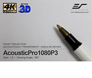 acoustic screen material, acoustic projection screen, sound transparent screen