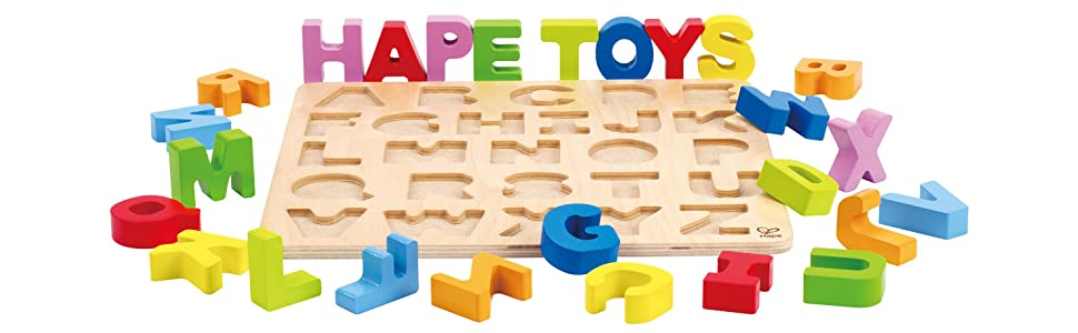 Amazon Com  Hape Alphabet Stand Up Kid U0026 39 S Wooden Learning
