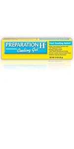 preparation h, hemorrhoid relief, hemorrhoid symptoms, hemorrhoid cooling gel, itching, burning