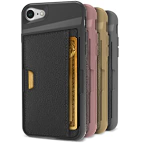 wallet case; card; credit card; cm4; silk; slim; durable; protective; rose gold; gold; iPhone 7