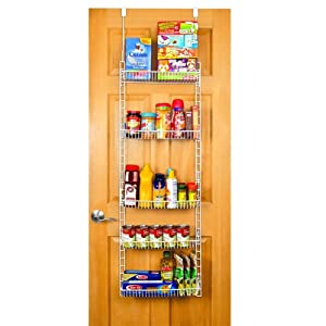 over the door kitchen storage pro mart dazz the door adjustable pantry 7257