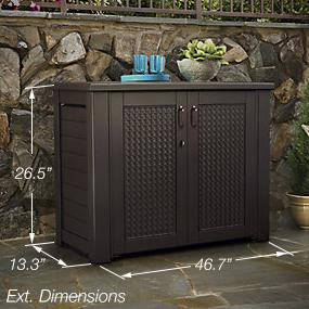Amazon.com : Rubbermaid Patio Chic Cabinet : Garden & Outdoor
