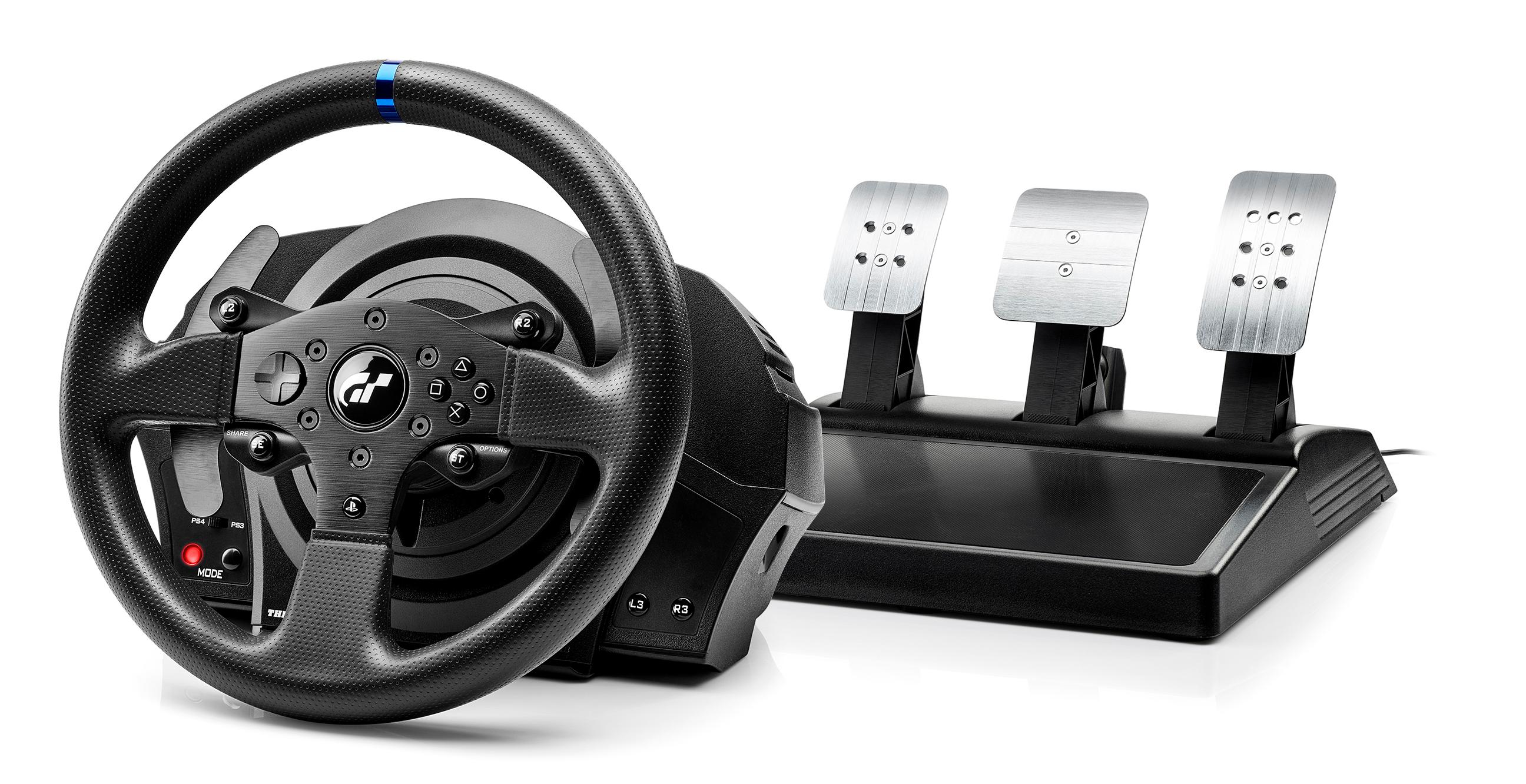 thrustmaster t300 rs gt racing wheel playstation 4 video games. Black Bedroom Furniture Sets. Home Design Ideas