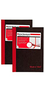 Black n' Red, black n red, black and red, notebook, hardcover notebook, business notebook