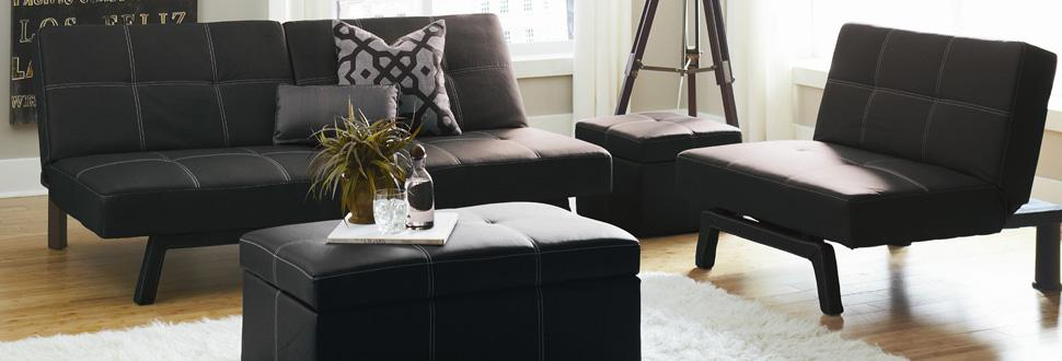 dhp delaney living room set  available in splitback futon sleeper sofas     amazon    dhp delaney small square ottoman with storage rich      rh   amazon