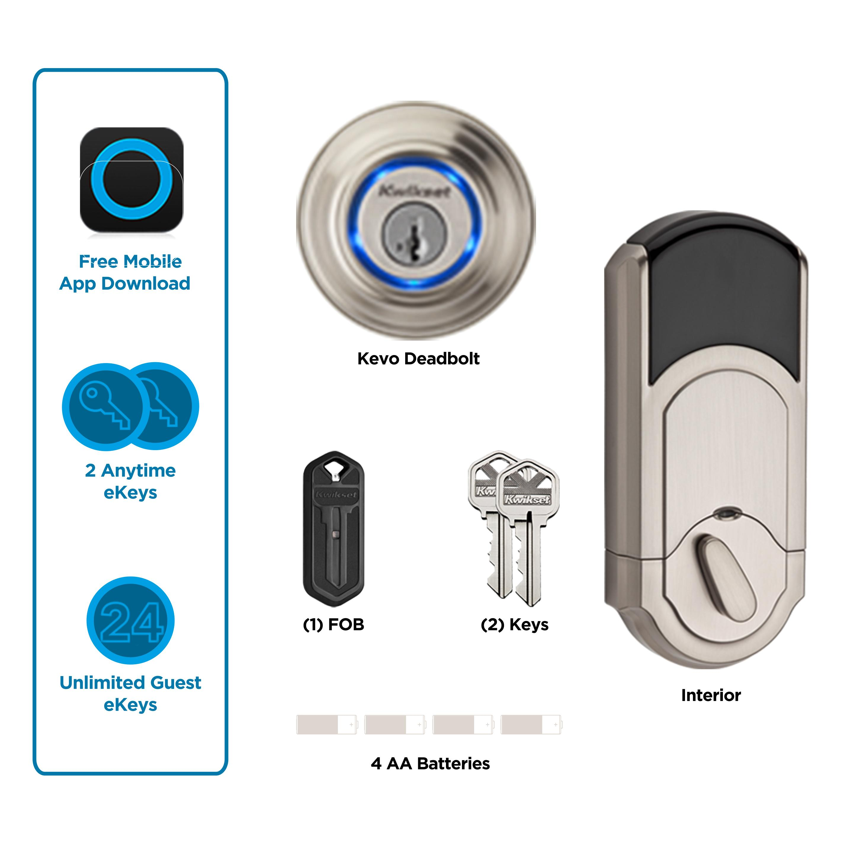 Kwikset Kevo 1st Gen Smart Lock With Keyless Bluetooth Touch To Open Convenience Certified