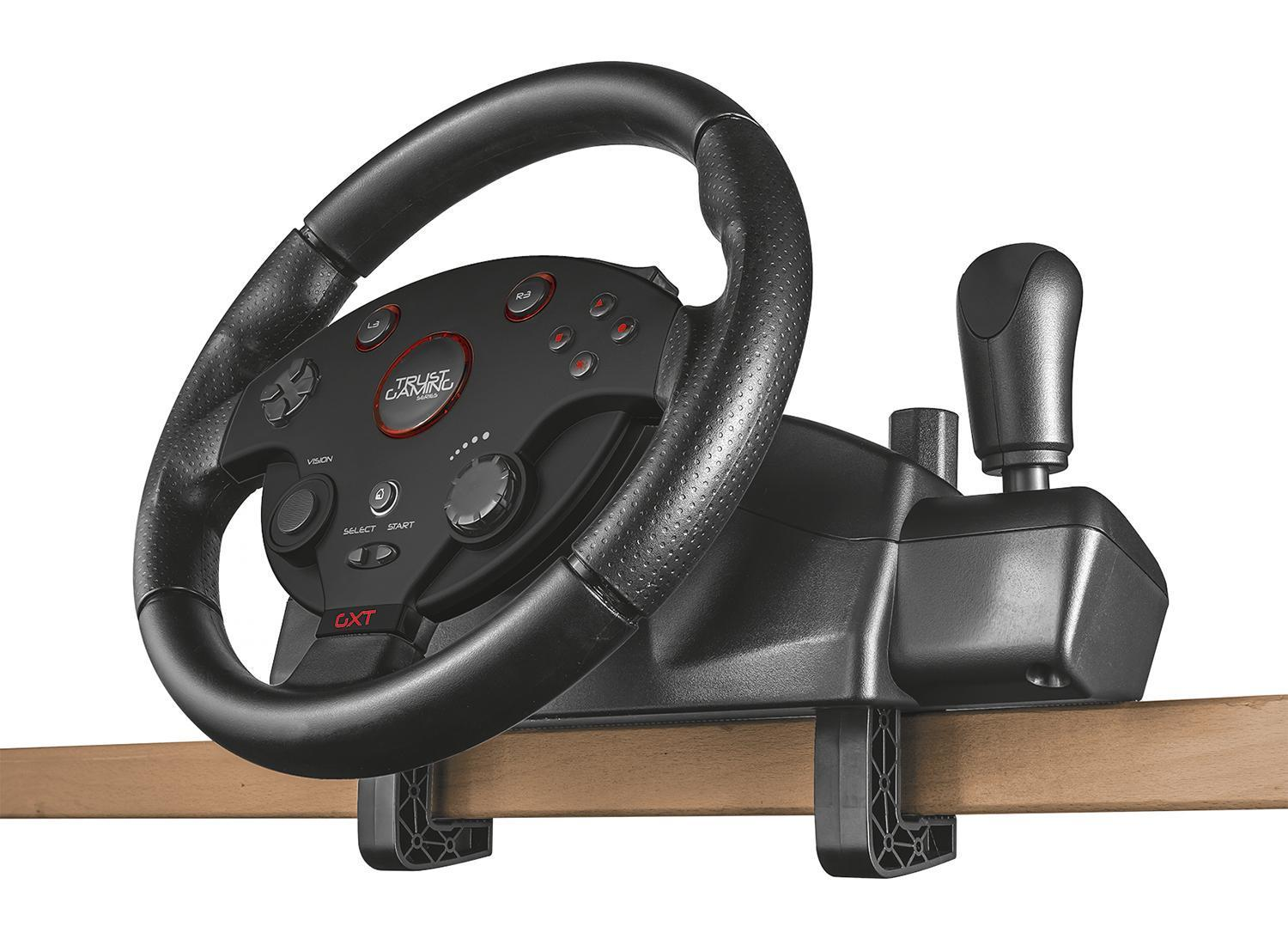Amazon Com Trust Gxt 288 Pc Amp Ps3 Racing Wheel With Gear