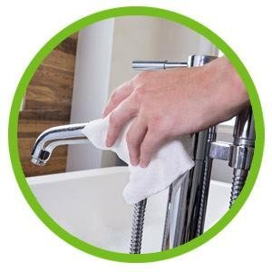 Absorbent paper towel sheets stay tough when wet to resist ripping or tearing.