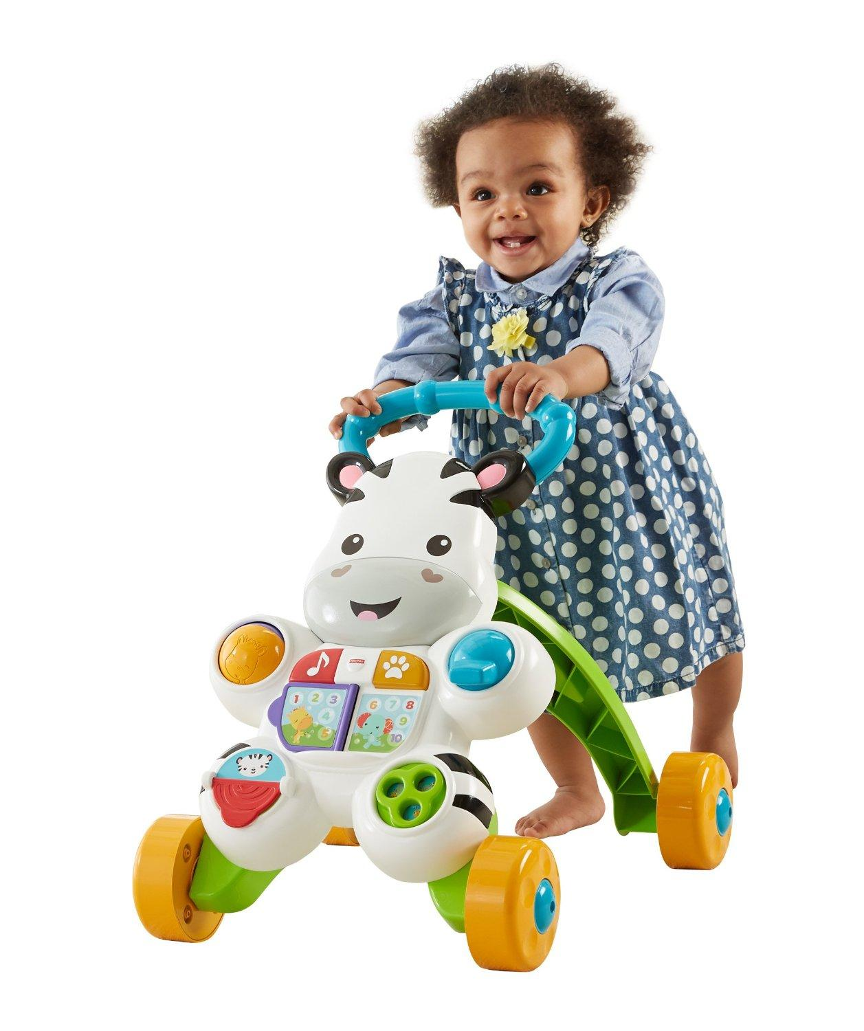 Amazon Com Fisher Price Learn With Me Zebra Walker Toys