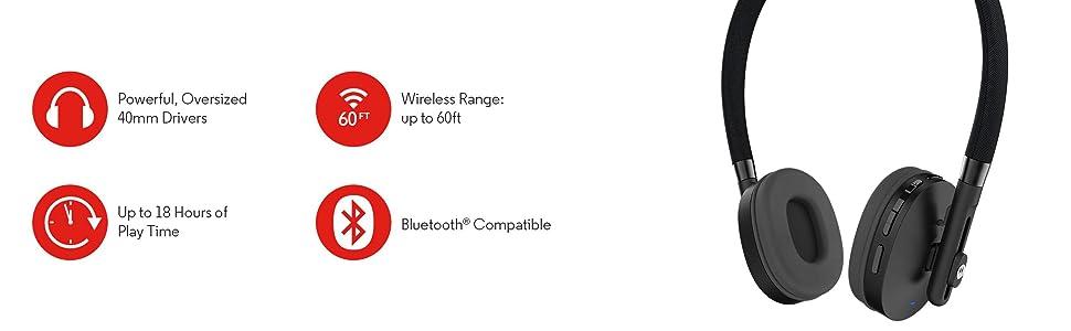 Motorola Moto Pulse Wireless Stereo Headphones