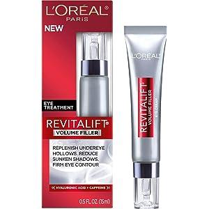 LOreal Paris Revitalift Volume Filler Eye Treatment, 0.5 Fluid Ounce By LOreal Paris Aveeno Ultra-Calming Nourishing Fragrance Free Night Cream, 1.7 oz, 6 Pack