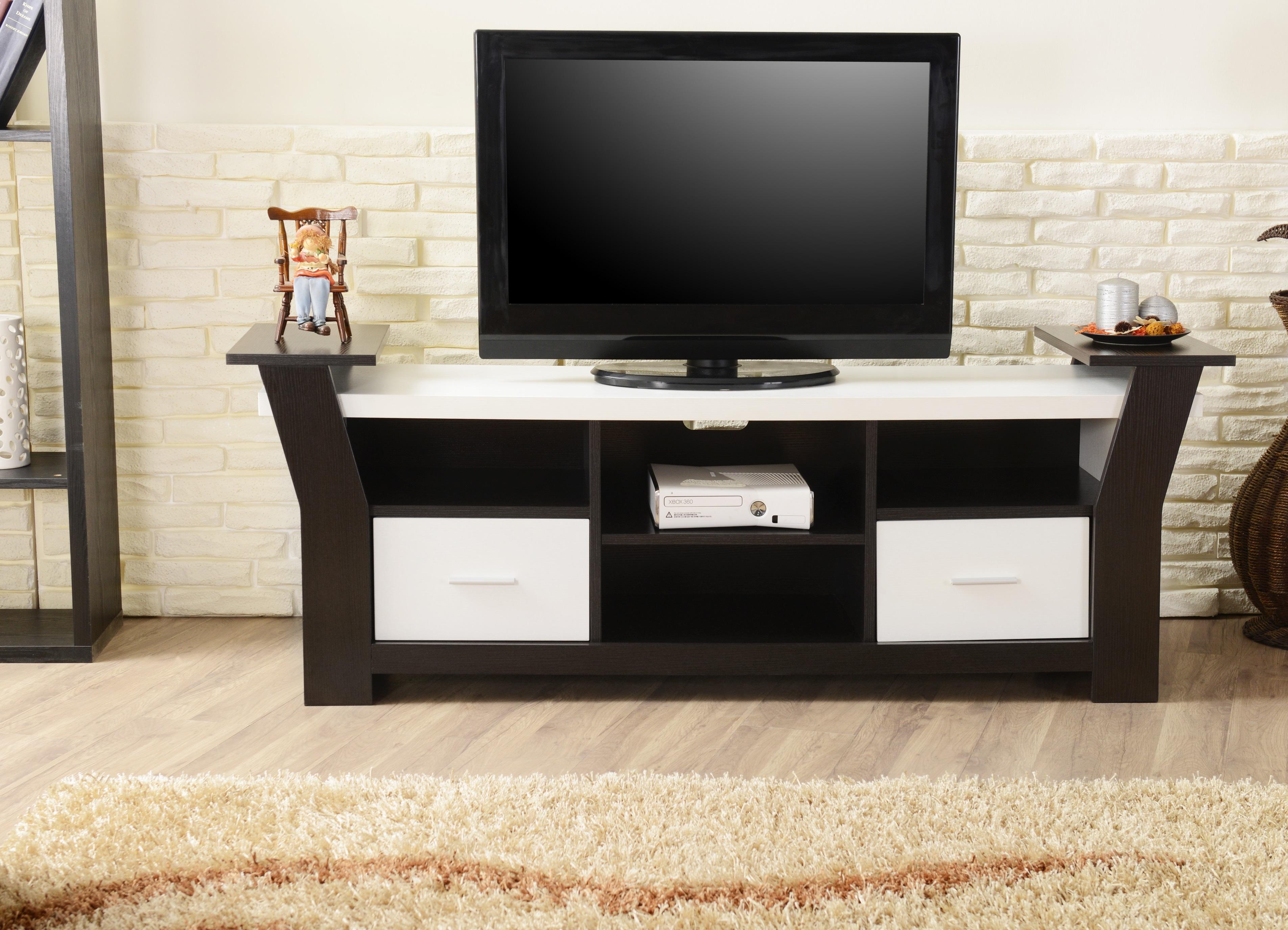 Amazon Com Iohomes Torena Multi Storage Tv Stand Black