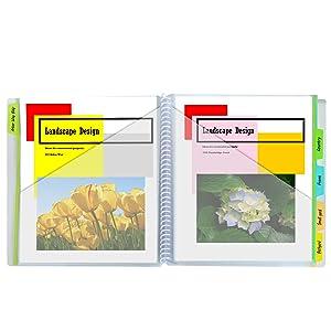 10-Pocket Poly Portfolio with Write-on Tabs