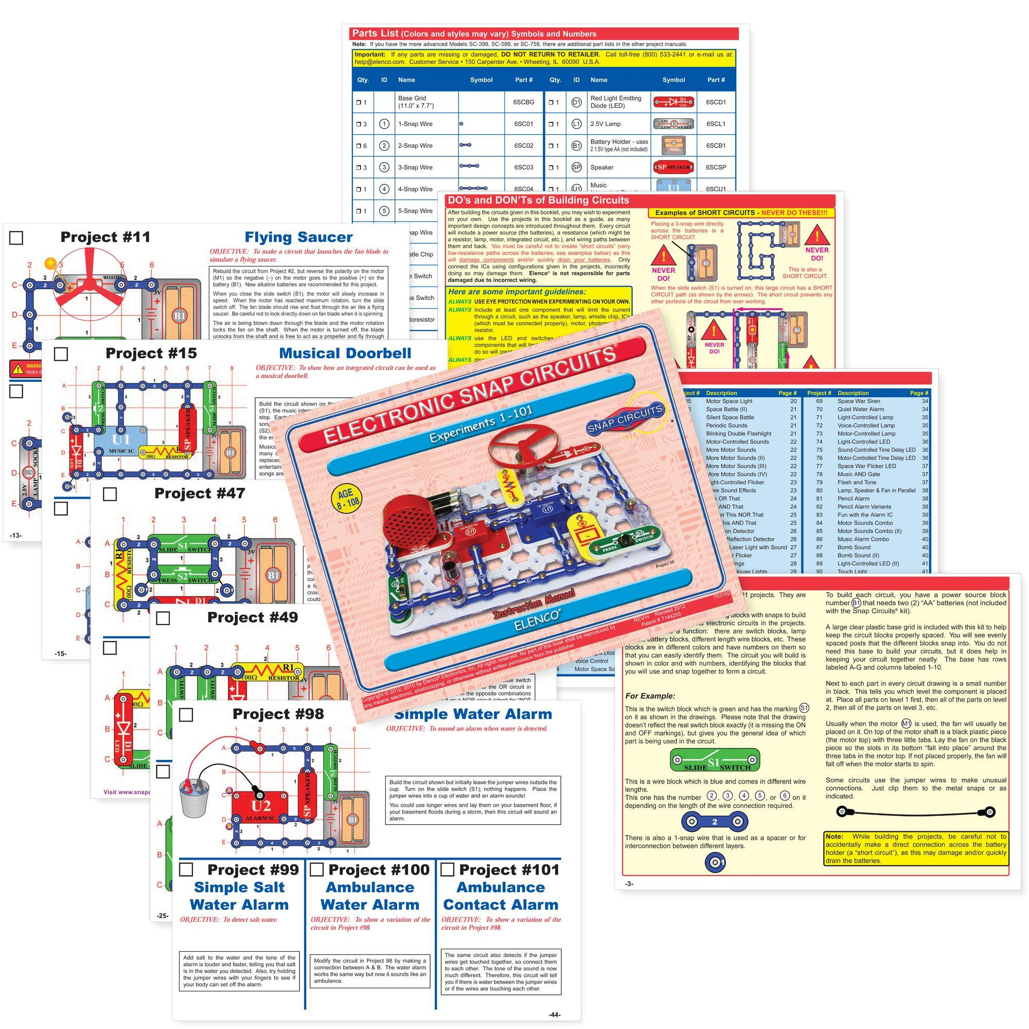 electronic snap circuits instruction manual