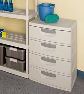 sterilite 4 drawer cabinet sterilite 01748501 4 drawer unit with putty 26796