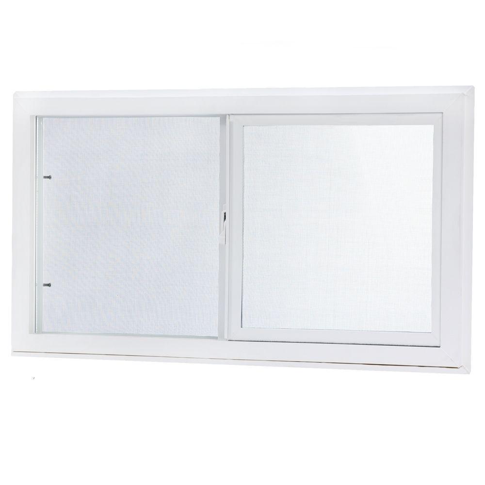 Park ridge vbsi3218pr vinyl basement slider for Vinyl sliding windows