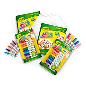 Crayola color wonder refill set perfect travel gift set ebay for Crayola color wonder 30 page refill paper