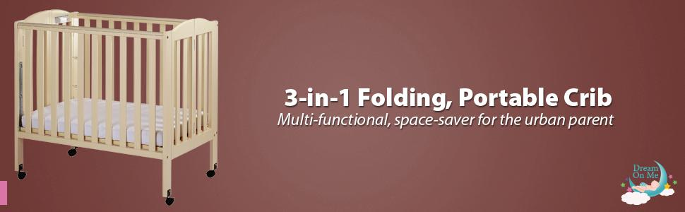 Good Folding, Portable Crib,dream On Me, Nursery Furniture, Baby Furniture, DOM