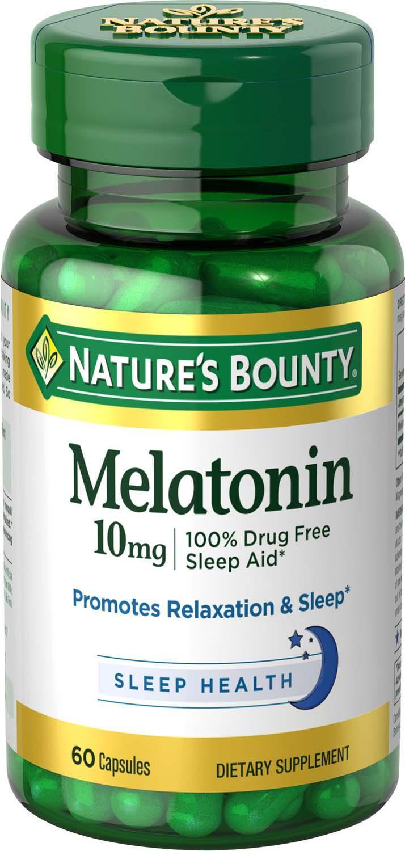 melatonin bounty natures capsules mg 60 nature 10mg maximum strength sleep sunflower seeds amazon aid ct ounce david rite glance