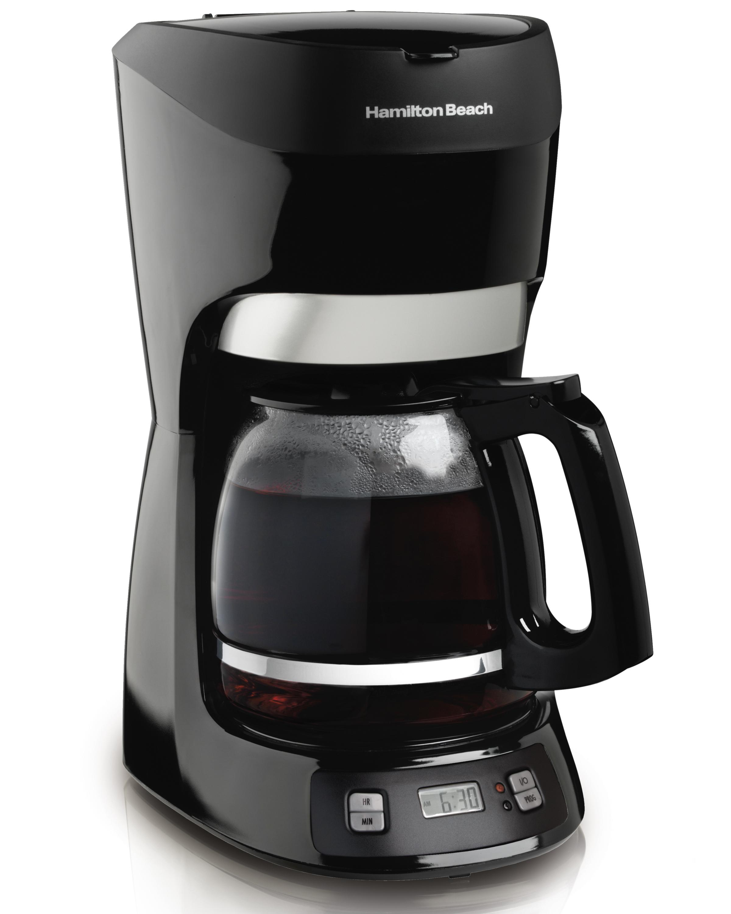 Coffee Pot For Coffee Maker : Amazon.com: Hamilton Beach 12-Cup Coffee Maker with Digital Clock (49467): Coffee Makers For ...