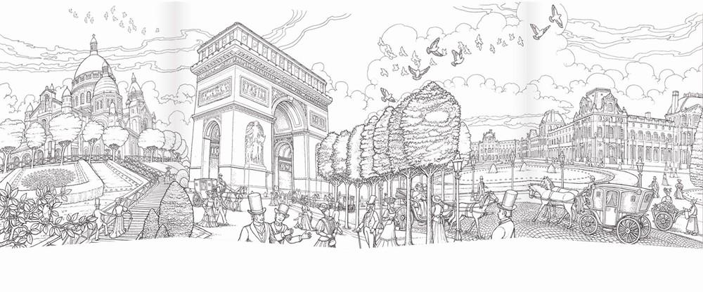 Coloring Paris Featuring The Artwork Of Celebrated Illustrator