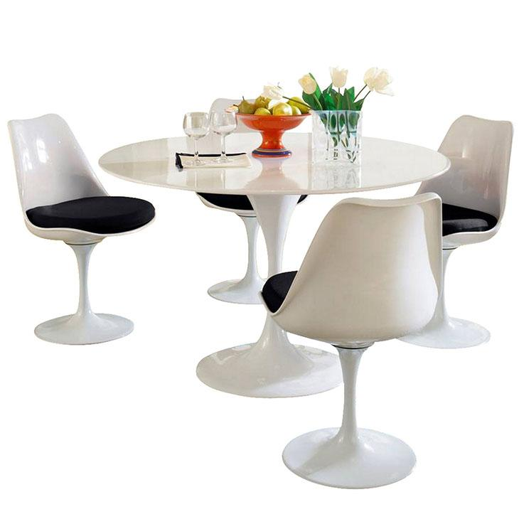 Kitchen Table And Chairs Amazon: Modway Lippa 5 Piece Fiberglass Dining Set In