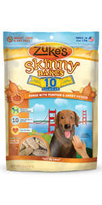 Amazon.com : Zuke'S Skinny Bakes Dog Treats, Peanut Butter