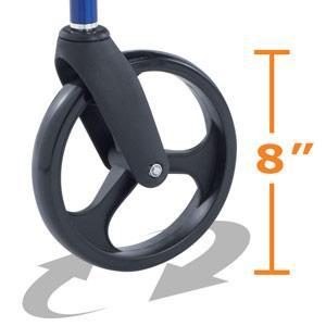 Hugo Elite Rolling Walker 8 inch swivel wheel