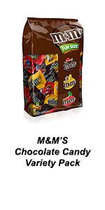 Crunchy chocolate M&M'S Candy can be shared in this assorted candy pack.