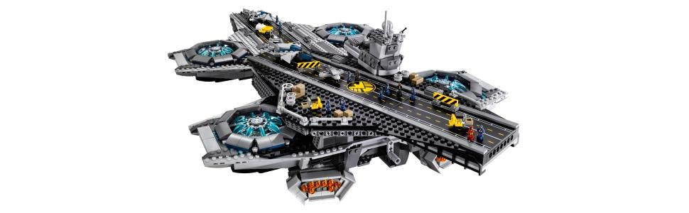 Amazon.com: LEGO Marvel Super Heroes 76042 The SHIELD Helicarrier ...