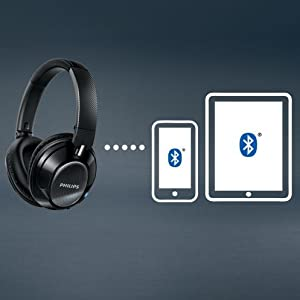 Philips SHB9850NC/27 Wireless noise canceling headphones - High quality Bluetooth 4.0 -Multi-pairing