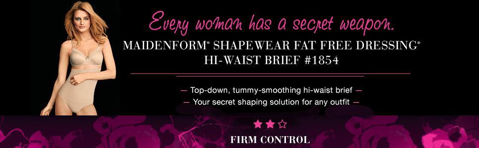 11dc066293 Maidenform Flexees Women s Shapewear Hi-Waist Brief Firm Control at ...