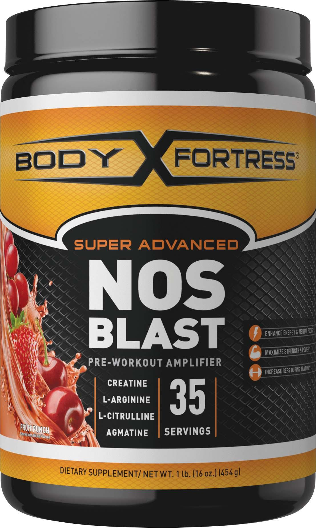 Amazon.com: Body Fortress Super Advanced NOS Blast, Fruit Punch, 1 Pounds: Health & Personal Care