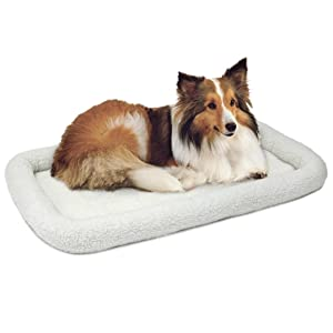 Fleece Bed with Dog