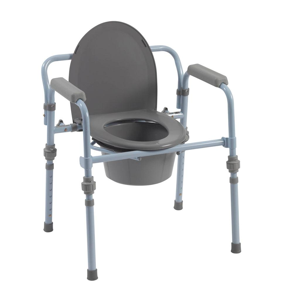 Amazon.com: Drive Medical Folding Bedside Commode Seat with ...