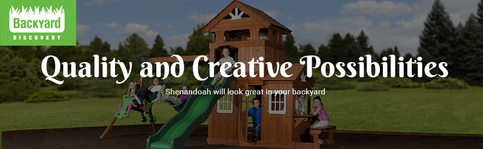From the manufacturer - Amazon.com: Backyard Discovery Shenandoah All Cedar Wood Playset