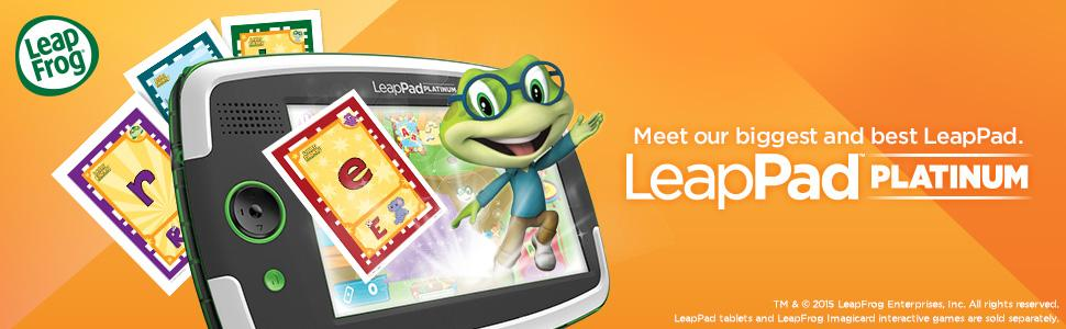 Best Tablets for kids, The illustration of LeapPad Platinum fun learning tablet.
