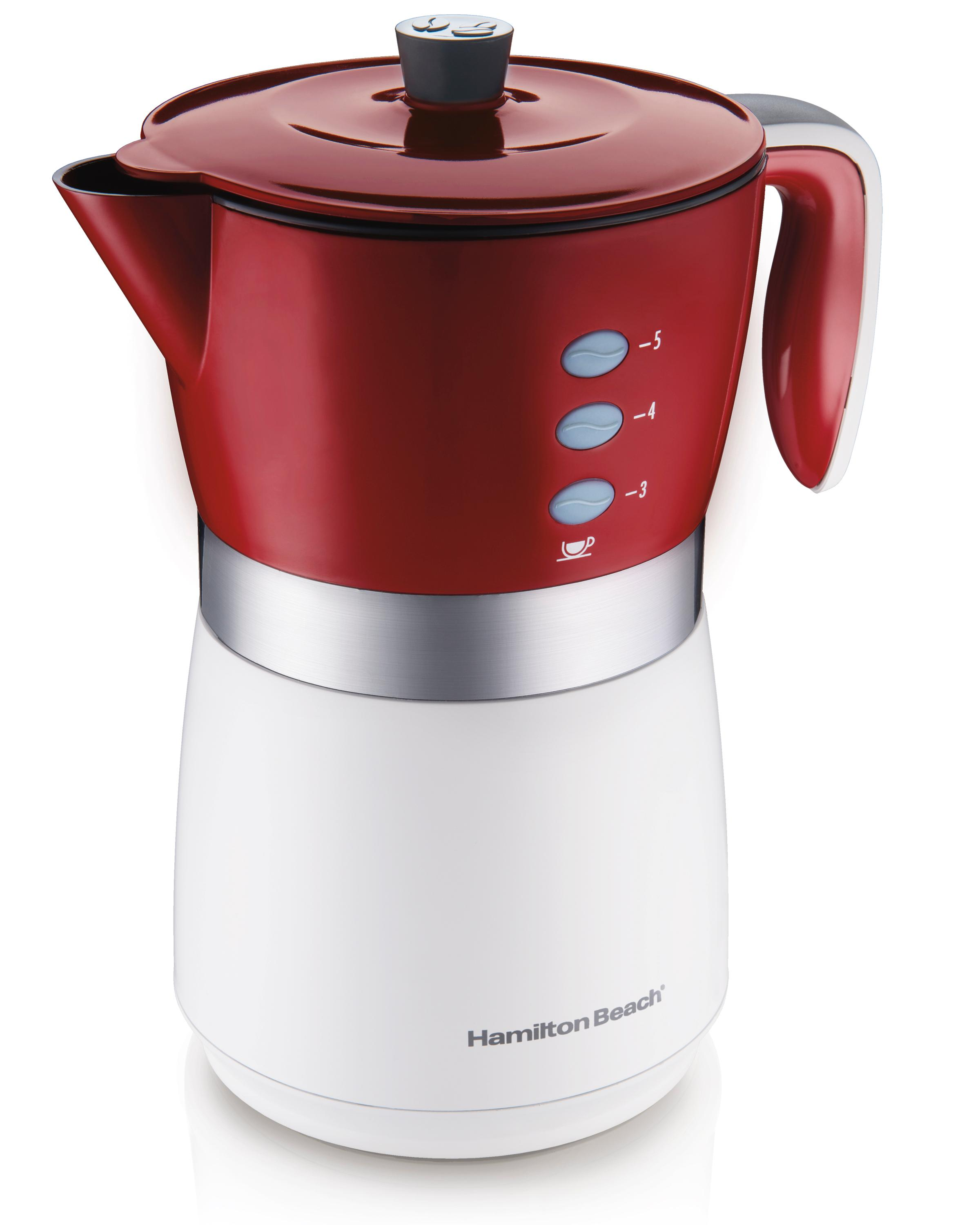 Coffee Maker K Cup And Pot Amazoncom Hamilton Beach 43700 5 Cup Personal Coffee Brewer Red